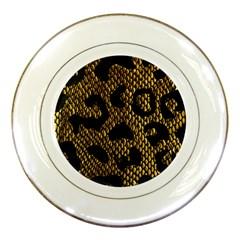 Metallic Snake Skin Pattern Porcelain Plates by BangZart