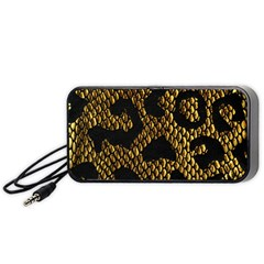 Metallic Snake Skin Pattern Portable Speaker (black) by BangZart