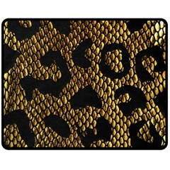 Metallic Snake Skin Pattern Double Sided Fleece Blanket (medium)  by BangZart