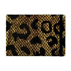 Metallic Snake Skin Pattern Ipad Mini 2 Flip Cases by BangZart