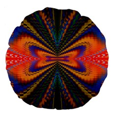 Casanova Abstract Art Colors Cool Druffix Flower Freaky Trippy Large 18  Premium Flano Round Cushions by BangZart