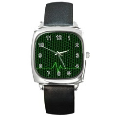 01 Numbers Square Metal Watch by BangZart