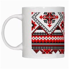 Consecutive Knitting Patterns Vector White Mugs by BangZart