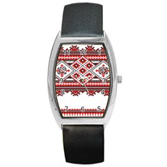Consecutive Knitting Patterns Vector Barrel Style Metal Watch by BangZart