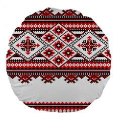 Consecutive Knitting Patterns Vector Large 18  Premium Flano Round Cushions by BangZart