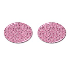Abstract Pink Squares Cufflinks (oval) by BangZart