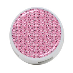 Abstract Pink Squares 4 Port Usb Hub (two Sides)  by BangZart