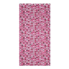 Abstract Pink Squares Shower Curtain 36  X 72  (stall)  by BangZart