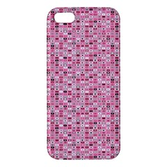 Abstract Pink Squares Iphone 5s/ Se Premium Hardshell Case by BangZart