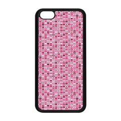 Abstract Pink Squares Apple Iphone 5c Seamless Case (black) by BangZart