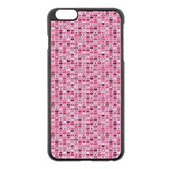 Abstract Pink Squares Apple Iphone 6 Plus/6s Plus Black Enamel Case by BangZart