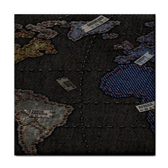 World Map Face Towel by BangZart