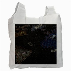 World Map Recycle Bag (one Side) by BangZart