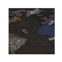 World Map Small Satin Scarf (square) by BangZart
