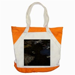 World Map Accent Tote Bag by BangZart