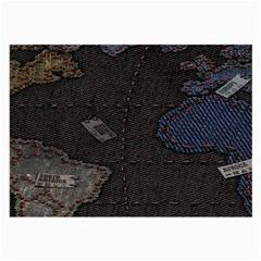 World Map Large Glasses Cloth (2 Side) by BangZart
