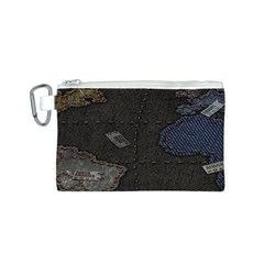 World Map Canvas Cosmetic Bag (s) by BangZart