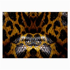 Textures Snake Skin Patterns Large Glasses Cloth (2 Side) by BangZart