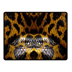 Textures Snake Skin Patterns Fleece Blanket (small) by BangZart
