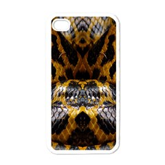 Textures Snake Skin Patterns Apple Iphone 4 Case (white) by BangZart