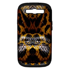 Textures Snake Skin Patterns Samsung Galaxy S Iii Hardshell Case (pc+silicone) by BangZart