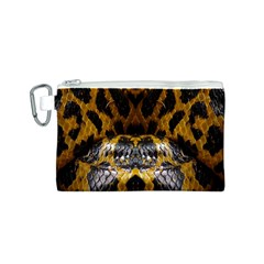 Textures Snake Skin Patterns Canvas Cosmetic Bag (s) by BangZart