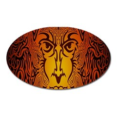 Lion Man Tribal Oval Magnet by BangZart