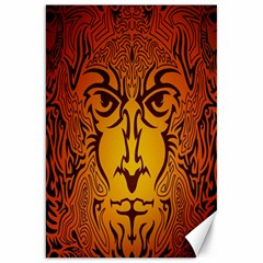 Lion Man Tribal Canvas 20  X 30   by BangZart