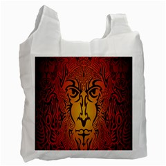 Lion Man Tribal Recycle Bag (one Side) by BangZart