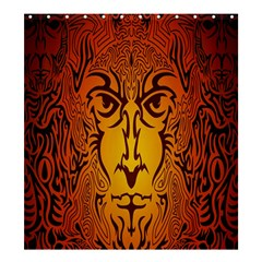 Lion Man Tribal Shower Curtain 66  X 72  (large)  by BangZart