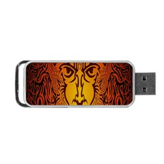 Lion Man Tribal Portable Usb Flash (two Sides) by BangZart