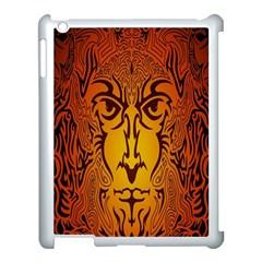 Lion Man Tribal Apple Ipad 3/4 Case (white) by BangZart