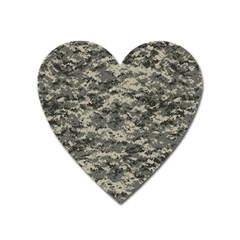 Us Army Digital Camouflage Pattern Heart Magnet by BangZart