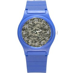 Us Army Digital Camouflage Pattern Round Plastic Sport Watch (s) by BangZart