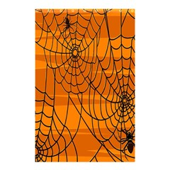 Vector Seamless Pattern With Spider Web On Orange Shower Curtain 48  X 72  (small)  by BangZart