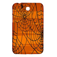 Vector Seamless Pattern With Spider Web On Orange Samsung Galaxy Tab 3 (7 ) P3200 Hardshell Case  by BangZart