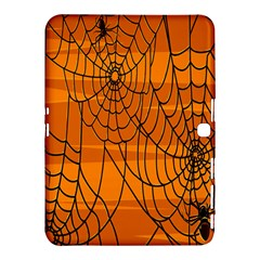 Vector Seamless Pattern With Spider Web On Orange Samsung Galaxy Tab 4 (10 1 ) Hardshell Case  by BangZart