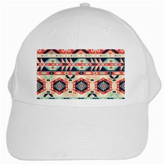 Aztec Pattern Copy White Cap by BangZart