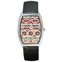 Aztec Pattern Copy Barrel Style Metal Watch by BangZart