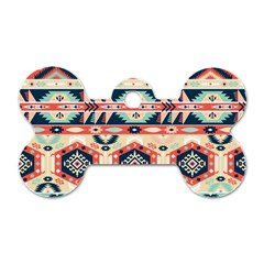 Aztec Pattern Copy Dog Tag Bone (two Sides) by BangZart