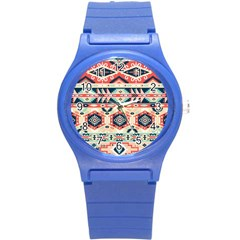 Aztec Pattern Copy Round Plastic Sport Watch (s) by BangZart