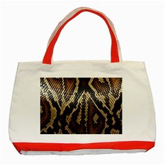 Snake Skin O Lay Classic Tote Bag (red) by BangZart