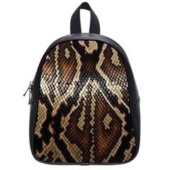 Snake Skin O Lay School Bags (small)  by BangZart