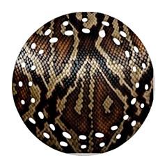 Snake Skin O Lay Ornament (round Filigree) by BangZart