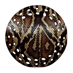 Snake Skin O Lay Round Filigree Ornament (two Sides) by BangZart