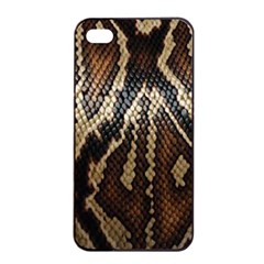 Snake Skin O Lay Apple Iphone 4/4s Seamless Case (black) by BangZart