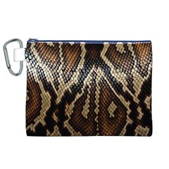 Snake Skin O Lay Canvas Cosmetic Bag (xl) by BangZart