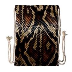 Snake Skin O Lay Drawstring Bag (large) by BangZart