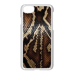Snake Skin O Lay Apple Iphone 7 Seamless Case (white) by BangZart