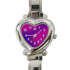 Purple Pink Dots Heart Italian Charm Watch by BangZart